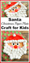 santa christmas paper plate craft for kids christmas paper