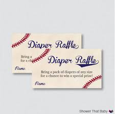 baseball baby shower diaper raffle tickets and diaper raffle