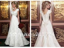 Informal Wedding Dresses A Line Cap Sleeves Corset Lace Informal Wedding Dress In Wedding