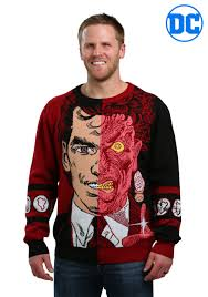 halloween sweaters two face pullover sweater for men