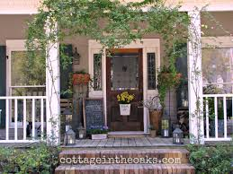 spring front porch cottage in the oaks