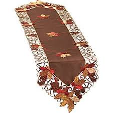 autumn harvest table linens amazonsmile embroidered autumn leaves table linens runner home