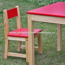 Toddler Table Chair China 2016 New Design Home Kindergarten Red Solid Wooden