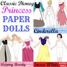 classic disney princess paper dolls free printables princess