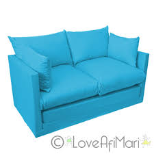 incredible blue sofa bed with fold out 2 seater kids teens sofa