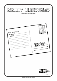 postcard to santa claus coloring page cool coloring pages