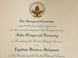 Ceremony Cards F Invitation To Kennedy U0027s 1961 Inauguration Auction Finds