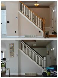 Best Paint For Stair Banisters Diy Stair Railing Makeover Stairs Pinterest Stair Railing