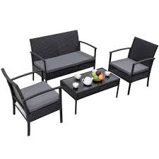 Patio Furniture Without Cushions Sofa Outdoor Wicker Furniture With Sunbrella Cushions Outdoor