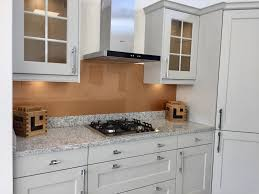 Kitchen Glass Splashback Ideas Copper Coloured Painted Glass Splashback Complementing This