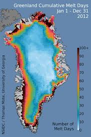 National Temperature Map An Intense Greenland Melt Season 2012 In Review Greenland Ice