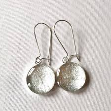 dangly earrings silver foil dangly earrings gabbyresin