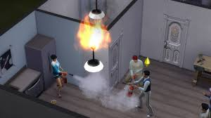 ceiling lamp bursts into flames u2014 the sims forums