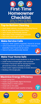 things you need for house first time homeowner checklist what you need to do before moving in