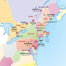 map eastern usa states cities map of east canada major tourist attractions maps