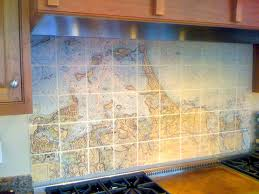 interior cream classic mosaic kitchen backsplash tiles design