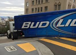 bud light truck driving jobs bud light semi truck driver apparently unfamiliar with city s steep
