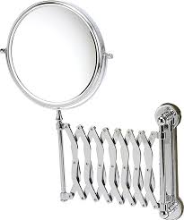 danielle wall mounted chrome extending mirror amazon co uk beauty