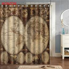 World Map Fabric Shower Curtain Buy World Map Shower Curtain Fabric And Get Free Shipping On