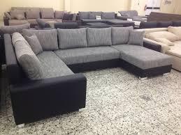 groãÿe sofa lomo megapol wohnlandschaft granite schwarz polstermöbel