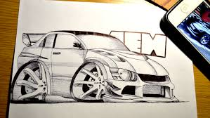 drift cars drawings tooned cars on behance