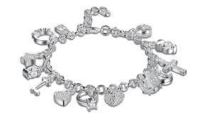 jewelry sterling charm bracelet images 61 off on swarovski elements bracelet groupon goods jpg