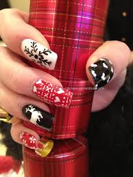 black christmas nail design black snowflake christmas nails nail
