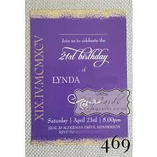 gold glitter confetti 21st birthday invitation design 469