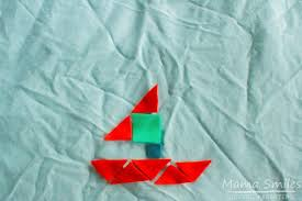geometric shapes boat and boat themed preschool learning
