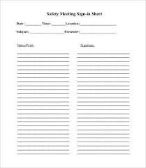 free sign in templates printable sign in sheet templates 64 free