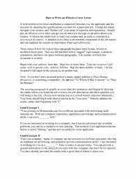an effective cover letter effective cover letters examples write