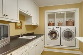washer and dryer pedestal laundry room craftsman with basket