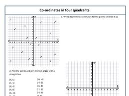 coordinates in 4 quadrants by kittykat 102 teaching resources tes