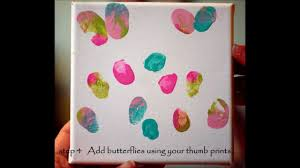 finger print flowers and butterfly thumbs wmv youtube