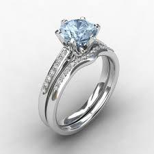 aquamarine wedding rings shop aquamarine wedding ring set on wanelo