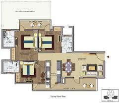 Typical Floor Plan Of A House by Floor Plans Of Chd Avenue Chd Avenue Gurgaon Avenue 71 Gurgaon Chd