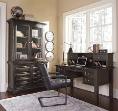 townser grayish brown home office desk with hutch for 679 94