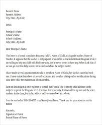 ideas collection sample formal letter complaint with