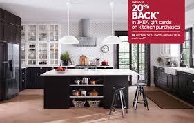 Ikea Black Kitchen Cabinets Ikea Kitchen With Two Tone Endearing Ikea Black Kitchen Cabinets