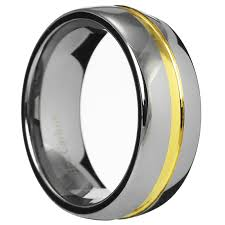 8mm ring 8mm gold grooved tungsten carbide ring men women wedding ring band