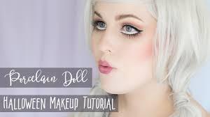 porcelain doll halloween makeup tutorial rebecca shores mua