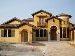 amazing earth tone house colors with yellow color with two story