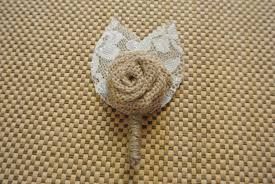 burlap boutonniere burlap boutonniere burlap boutonniere burlap and lace