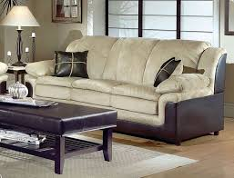 Leather Sofa Fabric Cushions by Furniture Comfortable Modern Brown Warm Sofas Living Room With
