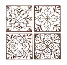 Elegant Wall Decor by Amazon Com Deco 79 50035 Metal Wall Decor Set Of 4 Home U0026 Kitchen