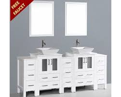 Double Vanity Basins 84in Square Vessel Sink Double Vanity By Bosconi Boaw224s3s