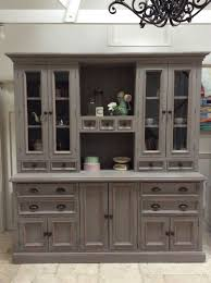 grey pine welsh dresser sideboard freestanding kitchen cabinet unit