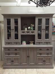 Freestanding Kitchen Furniture Grey Pine Welsh Dresser Sideboard Freestanding Kitchen Cabinet Unit
