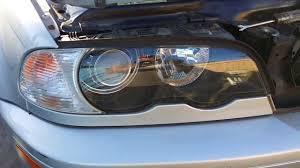 bmw e46 330ci 328ci front xenon headlight removal youtube