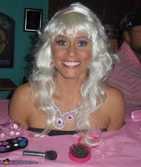 Barbie For Halloween Costume Ideas Barbie Styling Head Costume Barbie Pink Tablecloth And Costumes